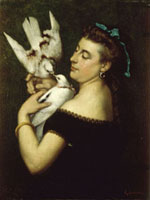 Woman With Pigeons,Early 1860's