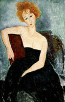 Young Redhead in an Evening Dress,1918