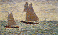 Two Sailboats,1885