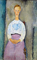 Girl with a Polka-Dot Blouse  (Jeune Fille au Corsage Pois),