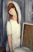 Portrait of Jeanne Hebuterne,Left Arm behind Head,1919