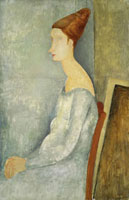 Portrait of Jeanne Hebuterne Seated in Profile,1918
