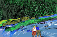 A gator look out, 2008, Computer Graphics