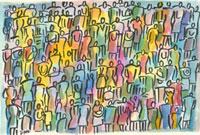 Crowd in Color 1998 20044000366| 写真素材・ストックフォト・画像・イラスト素材|アマナイメージズ