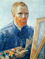 Self-Portrait in Front of Easel