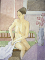Seated Nude   1995   Michael Mortimer Robinson (Living/Rhode