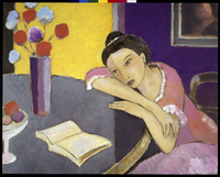 Girl at Table   1994   Oil on canvas   Michael Mortimer Robi