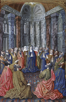 Book of Hours: The Pentecost c. 1408-1409 Limbourg Brothers