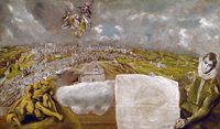 View of Toledo, by El Greco, oil on canvas, 1595, 1541-1614,