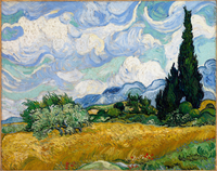 Summer landscape by Vincent van Gogh, Oil on canvas, 1889, 1