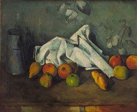 Still life with fruits by Paul Cezanne, Oil on canvas, 1879-