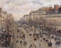 Boulevard Montmartre in Paris Camille Pissarro (1830-1903/