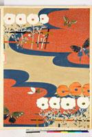 友禅図案(秋冬向模様友禅図案集より) 20046000891| 写真素材・ストックフォト・画像・イラスト素材|アマナイメージズ