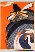 友禅図案(秋冬向模様友禅図案集より) 20046000901| 写真素材・ストックフォト・画像・イラスト素材|アマナイメージズ