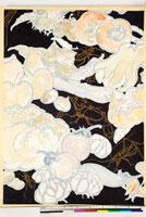 友禅図案(秋冬向模様友禅図案集より) 20046000906| 写真素材・ストックフォト・画像・イラスト素材|アマナイメージズ