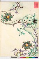 友禅図案(有職模様図案集より) 20046002376| 写真素材・ストックフォト・画像・イラスト素材|アマナイメージズ