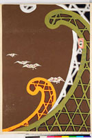 友禅図案(伊達模様友禅図案集より) 20046002970| 写真素材・ストックフォト・画像・イラスト素材|アマナイメージズ