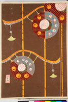 友禅図案(伊達模様友禅図案集より) 20046003076| 写真素材・ストックフォト・画像・イラスト素材|アマナイメージズ