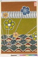 友禅図案(伊達模様友禅図案集より) 20046003292| 写真素材・ストックフォト・画像・イラスト素材|アマナイメージズ