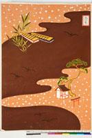 友禅図案(芦手模様友禅図案集より) 20046003662| 写真素材・ストックフォト・画像・イラスト素材|アマナイメージズ