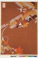 友禅図案(芦手模様友禅図案集より) 20046003882| 写真素材・ストックフォト・画像・イラスト素材|アマナイメージズ