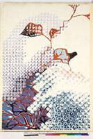 友禅図案(夏模様随意友禅図案集より) 20046003913| 写真素材・ストックフォト・画像・イラスト素材|アマナイメージズ