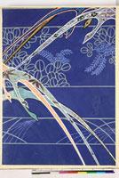 友禅図案(秋冬向模様友禅図案集より) 20046005385| 写真素材・ストックフォト・画像・イラスト素材|アマナイメージズ