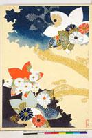 友禅図案(秋冬向模様友禅図案集より) 20046005393| 写真素材・ストックフォト・画像・イラスト素材|アマナイメージズ
