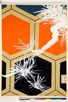 友禅図案(秋冬向模様友禅図案集より) 20046005425| 写真素材・ストックフォト・画像・イラスト素材|アマナイメージズ