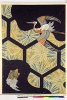 友禅図案(秋冬向模様友禅図案集より) 20046005431| 写真素材・ストックフォト・画像・イラスト素材|アマナイメージズ