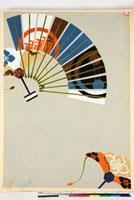 友禅図案(秋冬向模様友禅図案集より) 20046005448| 写真素材・ストックフォト・画像・イラスト素材|アマナイメージズ
