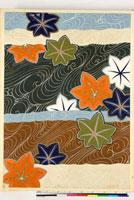 友禅図案(秋冬向模様友禅図案集より) 20046005464| 写真素材・ストックフォト・画像・イラスト素材|アマナイメージズ
