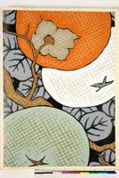 友禅図案(秋冬向模様友禅図案集より) 20046005468| 写真素材・ストックフォト・画像・イラスト素材|アマナイメージズ