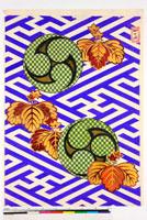 友禅図案(秋冬向模様友禅図案集より) 20046005514| 写真素材・ストックフォト・画像・イラスト素材|アマナイメージズ