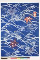 友禅図案(秋冬向模様友禅図案集より) 20046005539| 写真素材・ストックフォト・画像・イラスト素材|アマナイメージズ
