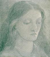 Elizabeth Eleanor Siddall, by Dante Gabriel Rossetti. Engla
