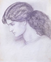 Profile of the Head of a Woman, by Dante Gabriel Rossetti.