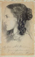 Christina Rossetti at the age of 16, by Dante Gabriel Rosse