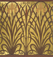 Iris wallpaper, by Walter Crane. Great Britain, late 19th c