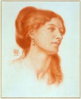 Louisa Marks, by Dante Gabriel Rossetti. England, 1868
