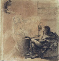 The Raven, by Dante Gabriel Rossetti. England, mid-19th cen