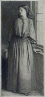 Elizabeth Siddal, by Dante Gabriel Rossetti. England, 1854