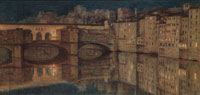Ponte Vecchio, Florence, by William Holman Hunt. England, 1