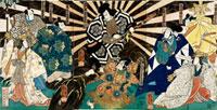Scene from Oicho Sakae Kagekiyo, by Utagawa Kuniyoshi. Japa 20048002885| 写真素材・ストックフォト・画像・イラスト素材|アマナイメージズ