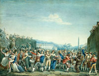 Carnival in Rome, by Bartolomeo Pinelli. Rome, Italy, 19th