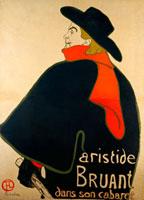 Aristide Bruant dans son Cabaret, by Henri de Toulouse Laut