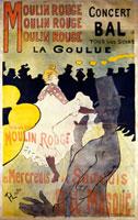 Moulin Rouge, by Henri de Toulouse-Lautrec. France, 1891.