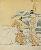 Snowdog, by Suzuki Harunobu. Japan, 18th century