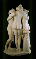 The Three Graces, by Antonio Canova. Rome, Italy, 1814-17