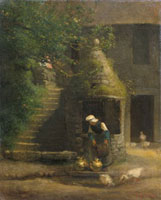 The Well At Gruchy, by Jean-Francois Millet. France, 1854